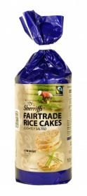 Sherriffs Fair Trade Rice Cakes - Slightly Salted 100g x6