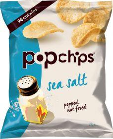 Popchips Sea Salt Popped Potato Crisps 23g x24
