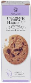 Against The Grain Organic Chocolate Chip & Hazelnut Cookies 150g x6