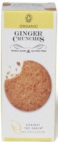 Against The Grain Organic Ginger Crunches Cookies 150g x6