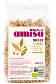 Amisa Organic Spelt Crunchy 375g x6