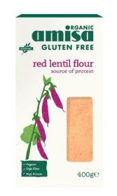 Amisa Red Lentil Flour Gluten Free Organic 400gx6