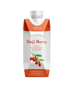 Berry Company Goji With Passionfruit & Ginseng Juice Drink 330ml x12