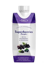Berry Company Superberries Purple With Blueberry & Guarana 330ml x12