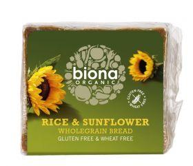 Biona Organic Gluten Free Rice & Sunflower seed Bread 500g x6