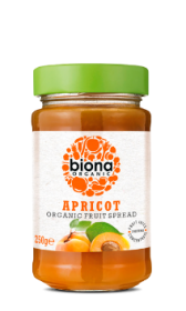 Biona Apricot Spread Organic (sweetened with Fruit Juice) 250gx6