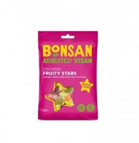 Bonsan Organic Fruity Stars Reduced sugar Vegan 50gx12