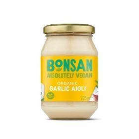 Bonsan Organic Garlic Aioli Vegan 235gx6