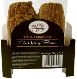Bronte Cafe Double Choc Chip Dunkers 30g - 2x24