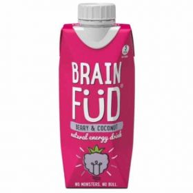 Brain Fud Berry and Coconut Natural Energy Drink 330ml x12