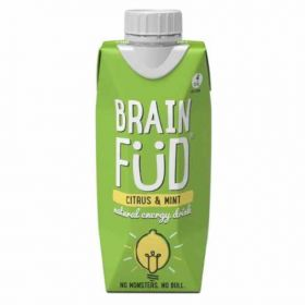 Brain Fud Pineapple and Ginger Natural Energy Drink 330ml x12