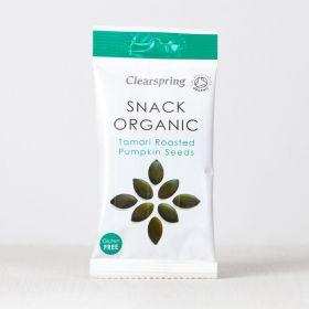 Clearspring Snack Organic Tamari Rstd Pumpkin Seeds 15 x30g