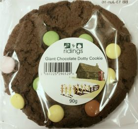 Ridings Giant Chocolate Dotty Cookie 90g x12