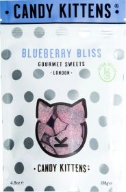 Candy Kittens Blueberry Bliss (Sharing Bag) Gourmet Sweets 138g x7