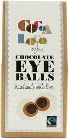 Cocoa Loco Fair Trade & Organic Handmade Biteable Chocolate Eyeballs 100g x6