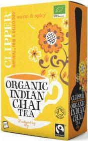 Clipper Fair Trade & Organic Indian Chai Tea Bags 60g (20's) x6