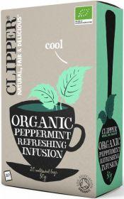 Clipper Organic Peppermint Infusion Tea Bags 30g (20's) x6
