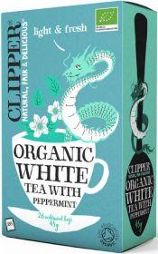 Clipper Organic White Tea with Peppermint Tea Bags 45g (26's) x6