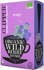 Clipper Organic Wild Berry Infusion Tea Bags 60g (20's) x6