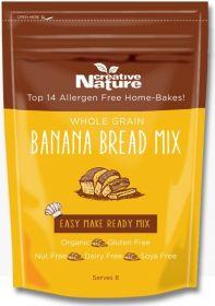 Creative Nature Superfoods Organic Wholegrain Banana Bread Mix 250g x6