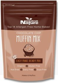 Creative Nature Organic Chocolate Chip Muffin Mix 250g x6