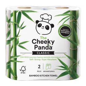 Cheeky Panda Kitchen Towel Bamboo 2ply (100% FSC) 200's x5