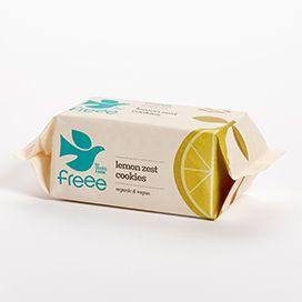 Doves Farm Freee Organic Lemon Zest Cookies 150g x12
