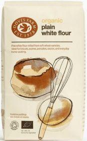 Doves Farm Organic Plain White Flour 1kg x5