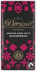 Divine Fair Trade Dark Raspberries Chocolate 90g x15