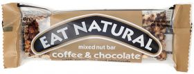 Eat Natural Coffee and Chocolate with Peanuts and Almonds 45g x12