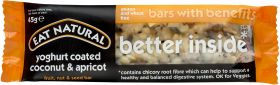 Eat Natural Bars with Benefits Better Inside* - Yoghurt Coated Coconut and Apricot 45g x12