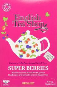 English Tea Shop Organic Super Berries Tea 30g (20's) x6