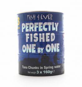 Fish 4 Ever Skipjack Tuna Chunks in Spring Water 160g x15
