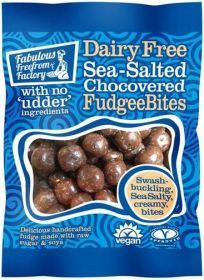 Fabulous Freefrom Factory Sea-Salted Chocovered FudgeeBites (Dairy Free) 65g x12