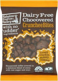Fabulous Freefrom Factory Chocovered CruncheeBites (Dairy Free) 65g x12