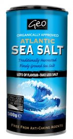 Geo Organics Atlantic Sea Salt 250g x6