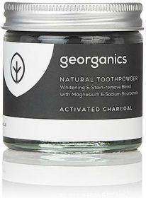 Georganics Activated Charcoal Natural Toothpowder 60ml x10