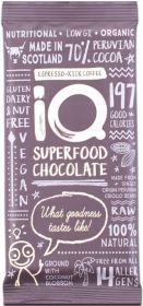 iQ Organic Cocoa-Nib Crunch Superfood Chocolate Bar 35g x24