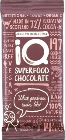 iQ Organic Lusciously Lovely Lime Superfood Chocolate Bar 35g x24