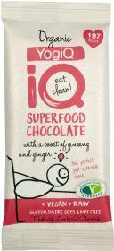 iQ Organic Orange and Wild Raspberyy Superfood Chocolate Bar 35g x24