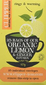 Clipper Tea Lemon & Ginger Infusion 25's