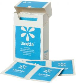Lunette Cup Wipes (Portable, Compostable & Disinfecting) 10's x1