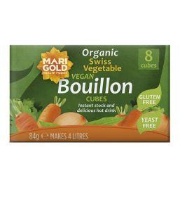 Marigold ORG Yeast Free Vegan GF Bouillon Cube Green 12x8