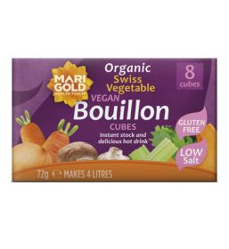 Marigold ORG Low Salt VeganGF Bouillon Cube Purple 12x8