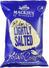 Mackie's of Scotland Lightly Salted Ridge Cut Potato Crisps (Sharing Bag) 150g x12