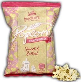 Mackie's of Scotland Sweet and Salted Popcorn (Sharing Bag) 100g x8