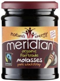 Meridian Fair Trade & Organic Pure Blackstrap Molasses (Natural Sweetener) 350g x6