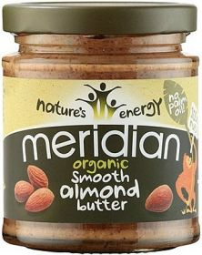 Meridian Organic 100% Smooth Almond Butter (Speciality Nut Butter) 170g x6
