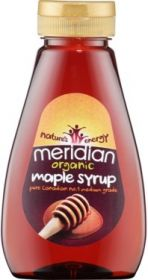 Meridian Organic Squeezy Maple Syrup (Natural Sweetener) 250ml x6