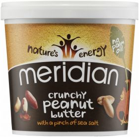 Meridian Crunchy Peanut Butter with Pinch of Sea Salt 1kg x6